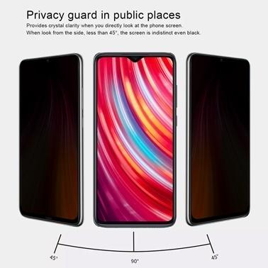 Microsonic Xiaomi Redmi Note 8 Privacy 5D Gizlilik Filtreli Cam Ekran Koruyucu Siyah Siyah